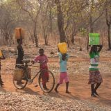 Fetching water, Zambia