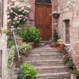 Floral steps, Tuscany