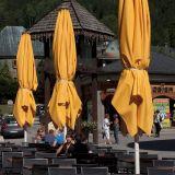 Yellow umbrellas, Chamonix
