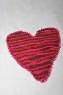 Red Heart felt rug/wall wall hanging
