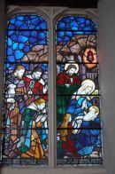 Nativity window.