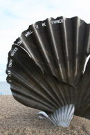 Maggi Hambling's Scallop Sculpture - Aldeburgh Beach