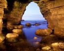 Cave entrance, a bay near Byers Hole, South Shields, UK