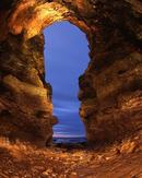 Through the Keyhole. Large cave at Whitburn, England