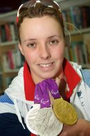 Paralympic gold medallist Sophie Wells