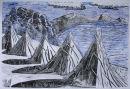Titicaca Haystacks Blue&White