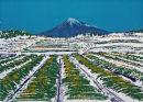 Tea fields to Fuji - silkscreen