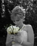 Jo with Bouquet - Lyndhurst