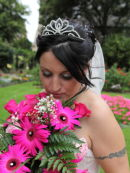 Kellie with Bouquet - Winchester