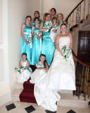Group shot - Katie & Nathans Wedding - Upton House - Poole