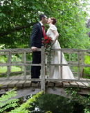 A Kiss on the Bridge - Angie & John - Exbury Gardens