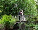 On the Bridge - Angie &amp; John - Exbury Gardens