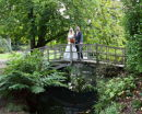 On the Bridge - George & Simon at Exbury Gardens