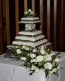Cake at the wedding of Belinda & David