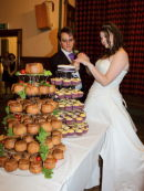 Cake &amp; Pork Pies at Sam &amp; Craigs Wedding