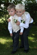 Page boys from Lesley & Keiths Wedding @ Sparsholt