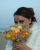 Asli with bouquet - Miramar Hotel - Bournemouth