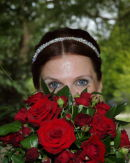 Angie with bouquet - Exbury Gardens