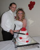 Cutting the Cake - Kirsten & Matt