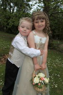 Page Boy and Bridesmaid @ Julie & Michaels Wedding