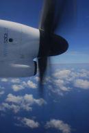 Inter-island flight-SATA (Azorean Airline)-Bombardier Q400 Turbo-Prop