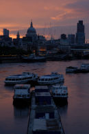City from Waterloo Bridge: Dawn