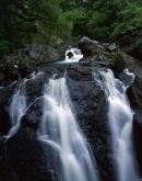 Gwynedd: Nr Dolgellau: Dolmelylllyn Estate: Rhaiadr Ddu Waterfall