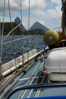 St Lucia - Approaching the Pitons